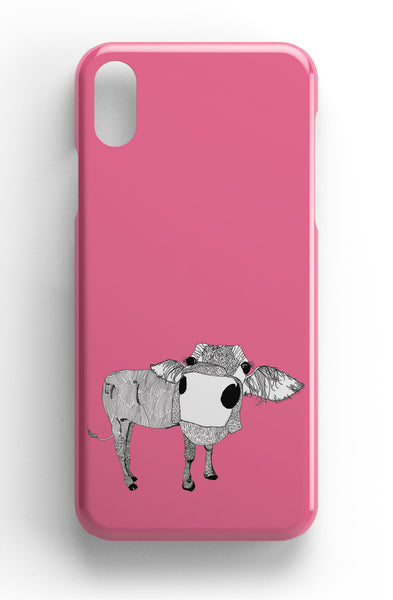 "Casey Rogers Illustrated Phone Case ""Cowface"""