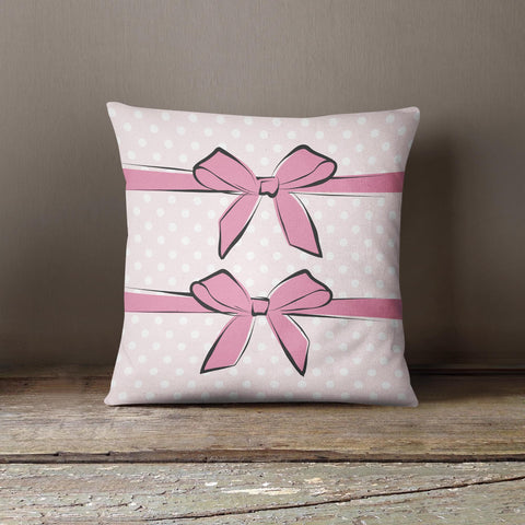 "Martina Pavlová Design Cushion - ""Pink Bows"""