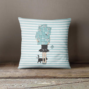 "Martina Pavlová Design Cushion - ""Tiffany Boxes"""