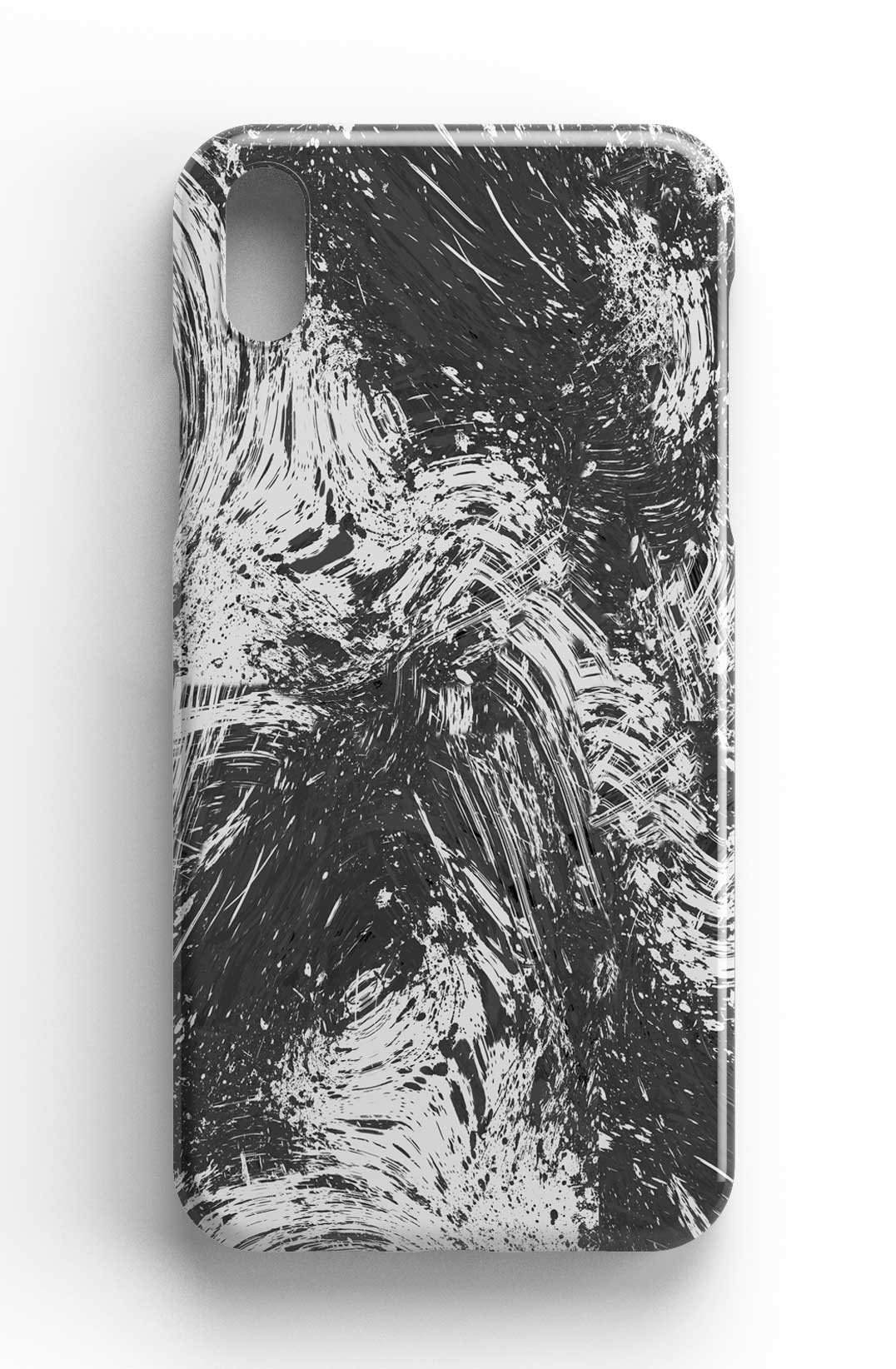 Ninola Design Abstract Dripping Dust White/Black Phone Case