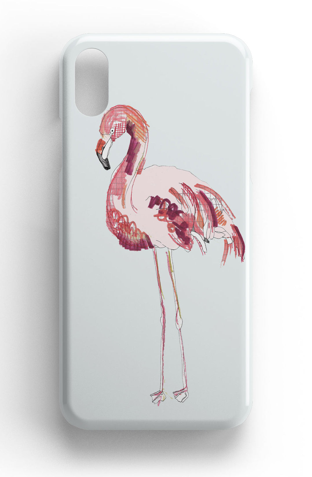 "Casey Rogers Illustrated Phone Case ""Flamingo"""