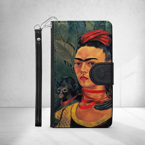 Frida Kahlo 'Self Portrait with Monkey' Phone Wallet Case
