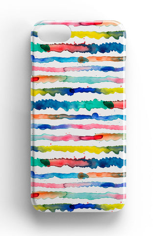Ninola Design Gradient Watercolor Lines Phone Case