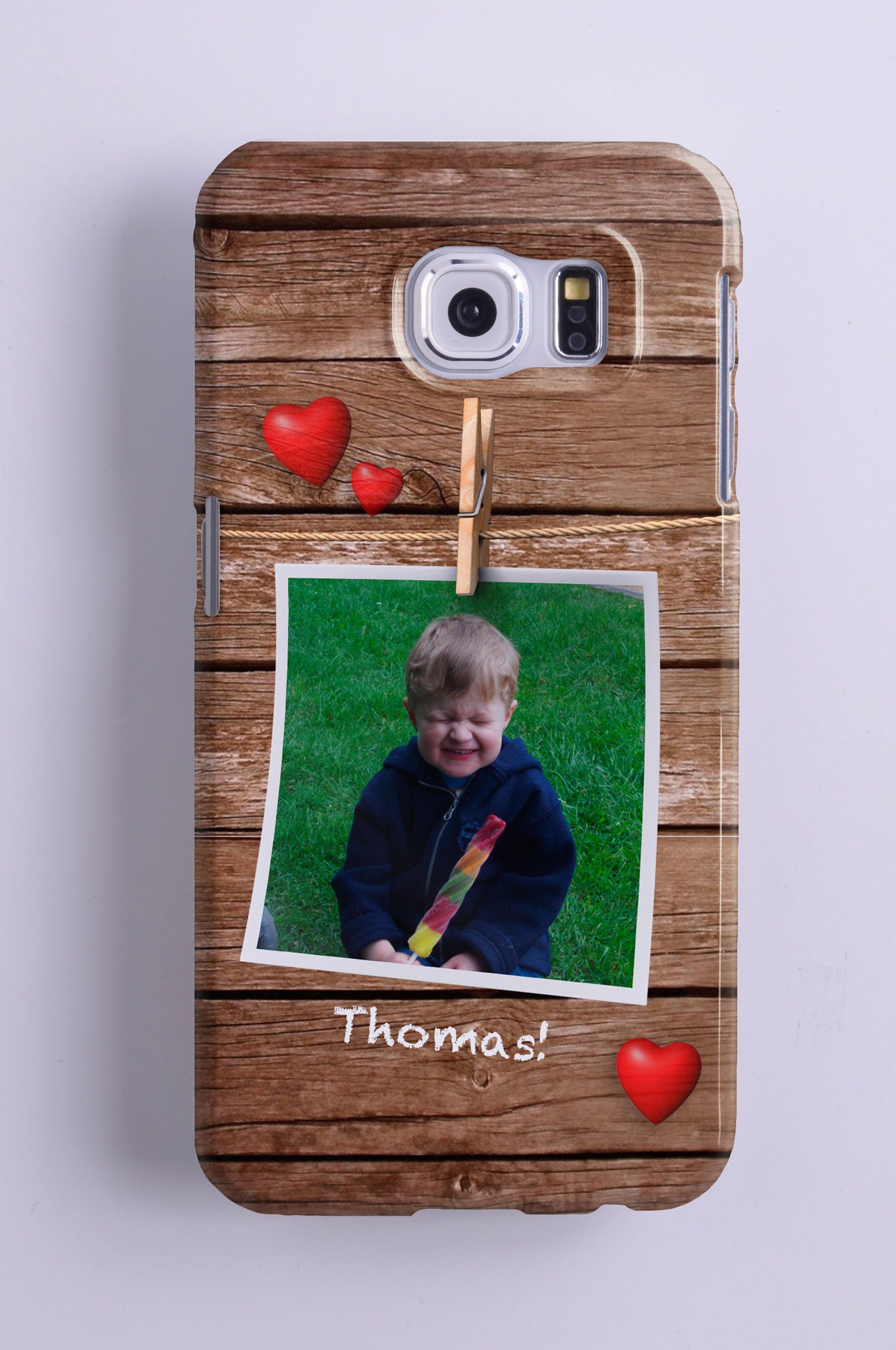 Personalised Photo Wood Effect Phone case