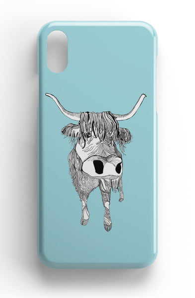 "Casey Rogers Illustrated Phone Case ""Highland Cattle"""