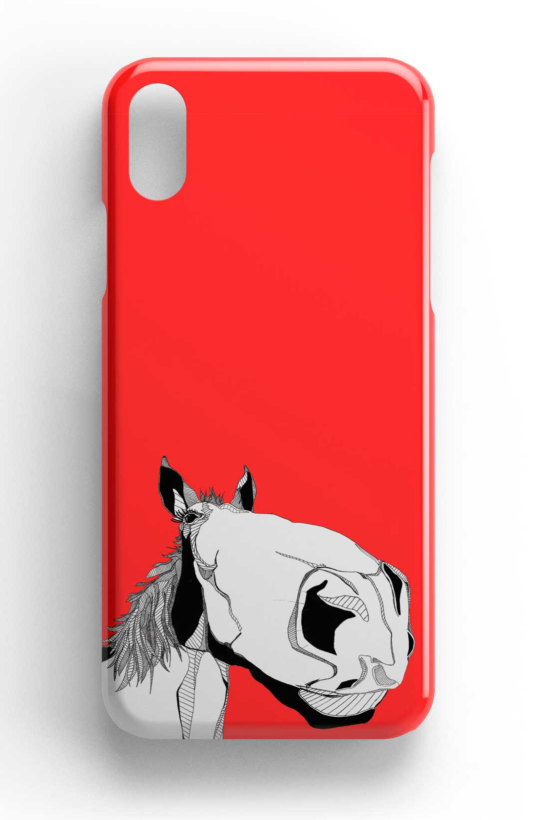 "Casey Rogers Illustrated Phone Case ""Big Face Horse"""