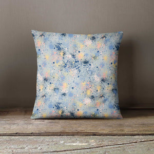 Ninola Design Abstract Ink Dust Dots Paint Splatter Cushion