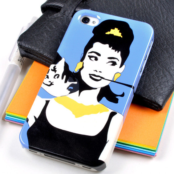 Audrey Hepburn case for iPhone 4/4S