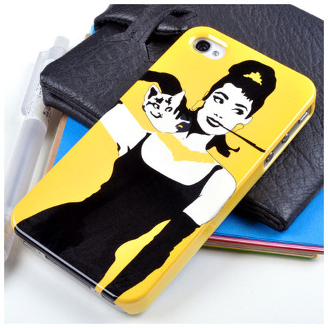 Audrey Hepburn in Yellow for iPhone 4/4S