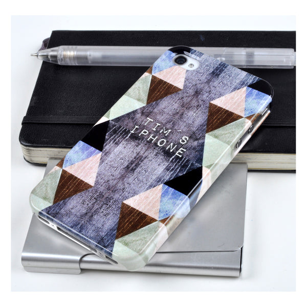 Personalised Triangles case for iPhone 4/4S