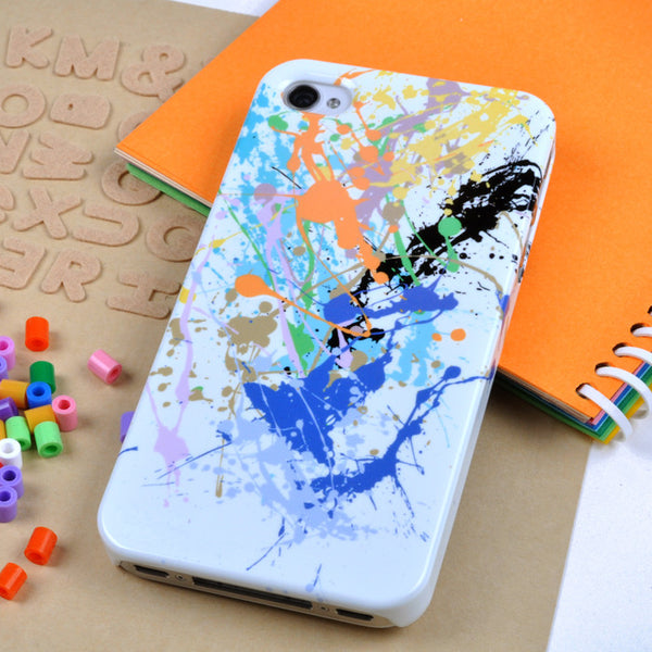 Blue Paint Splat case for iPhone 4/4S