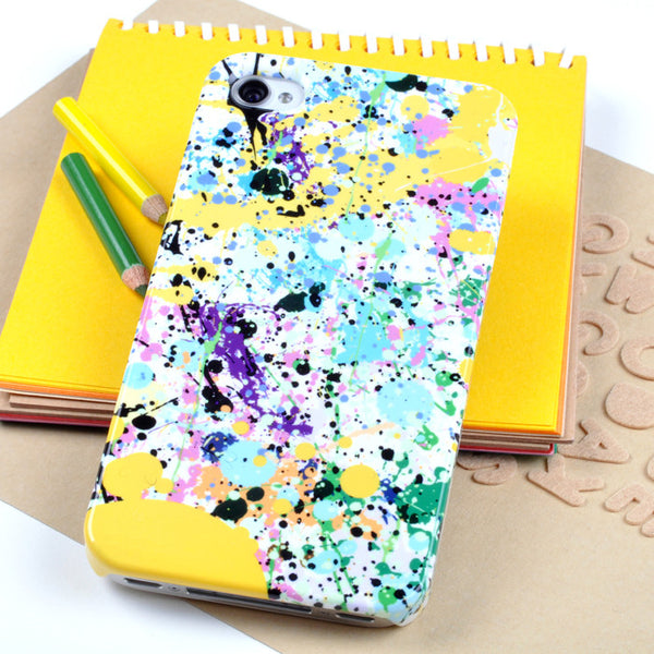 Yellow Paint Splat case for iPhone 4/4S