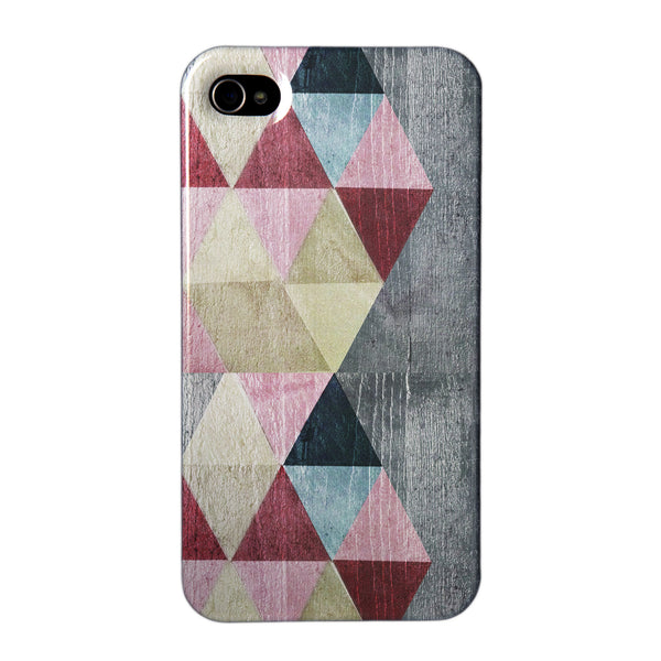Coloured triangles in Red Case for iPhone 4/4S