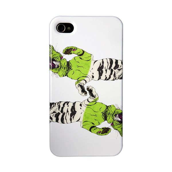 """Four Tigers"" case by Mina Milk iPhone 4/4S"