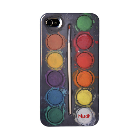 Personalised Black Paint Set Phone Case