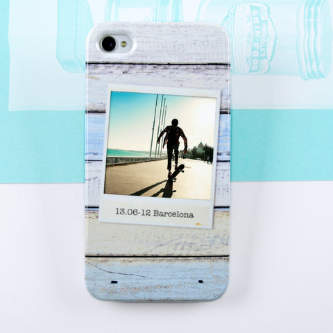 Personalised Wood Photo Case for iPhone 4/4S
