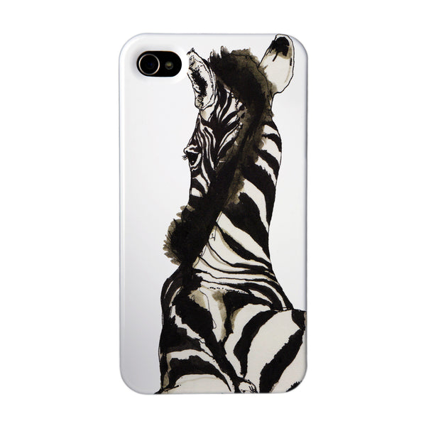 """Zebra"" case by Mina Milk iPhone 4/4S"