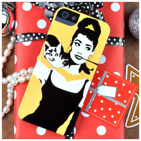Audrey Hepburn in Yellow for iPhone 5/5S