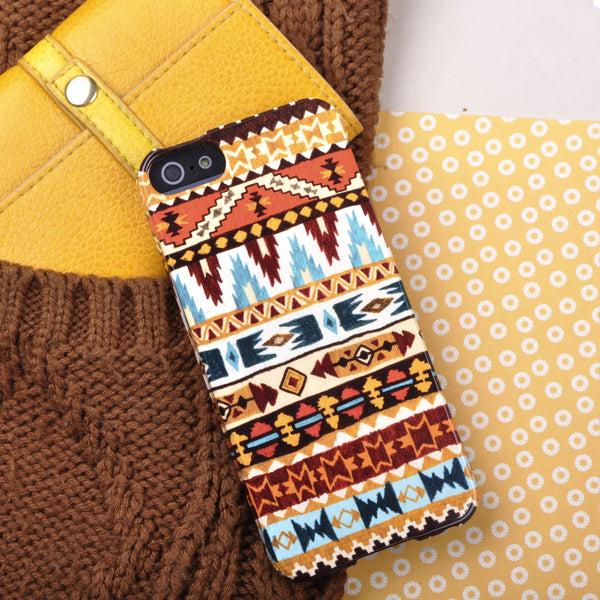 Aztec Print Case in Red, Orange and Blue for iPhone 5/5S