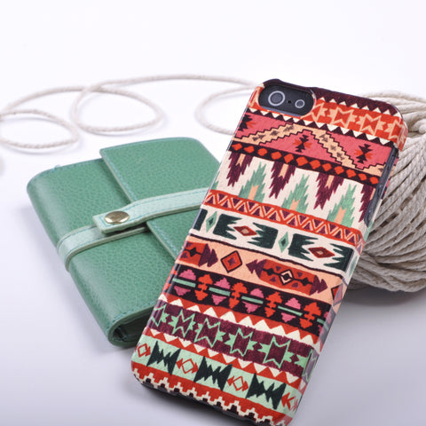 Aztec Print Case in Purple and Green for iPhone 5/5S