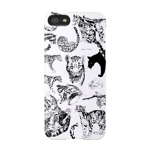 """Clouded Leopard Collage"" design for iPhone 5/5S"