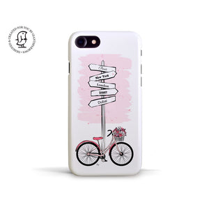 "Martina Pavlová Illustrated Case ""Pink Bike"""
