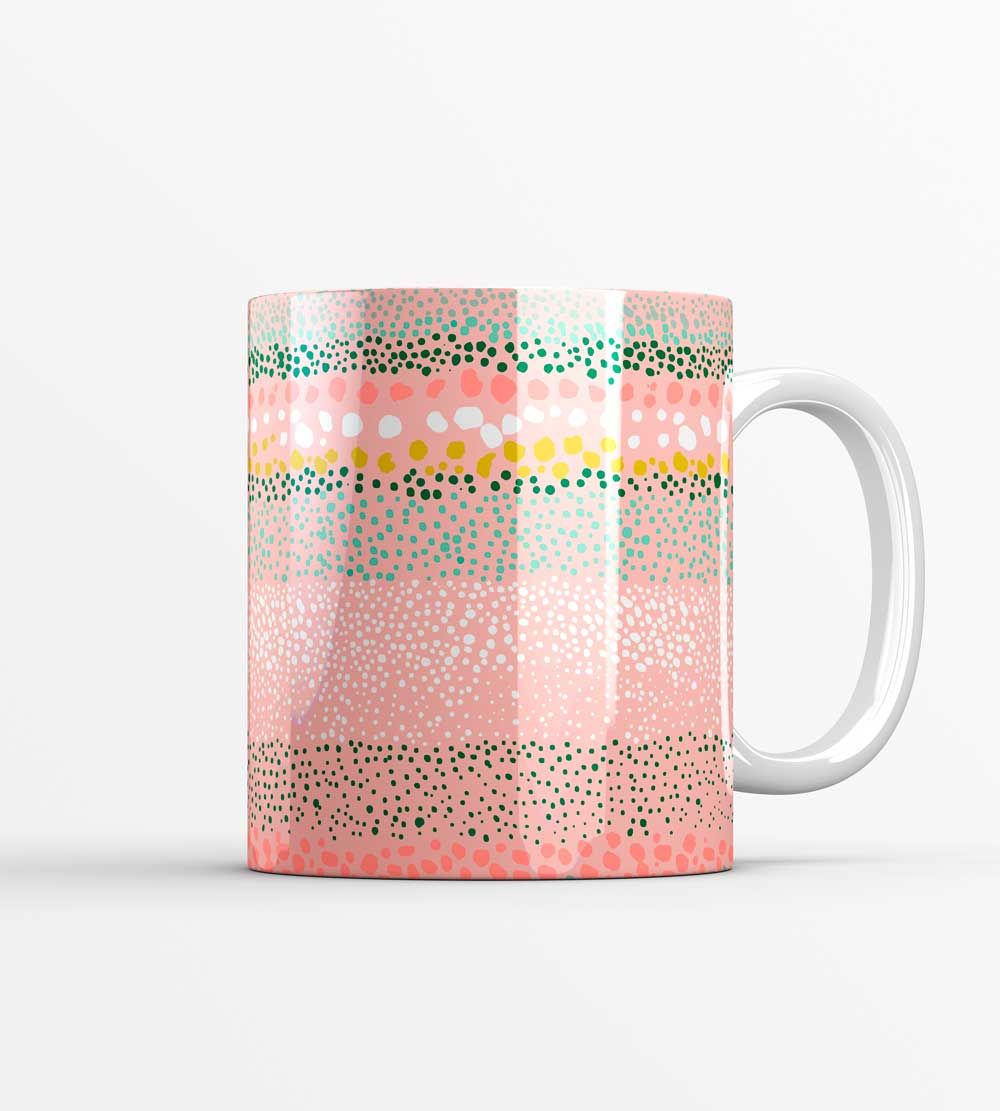 Little Pink Textured Dots Mug