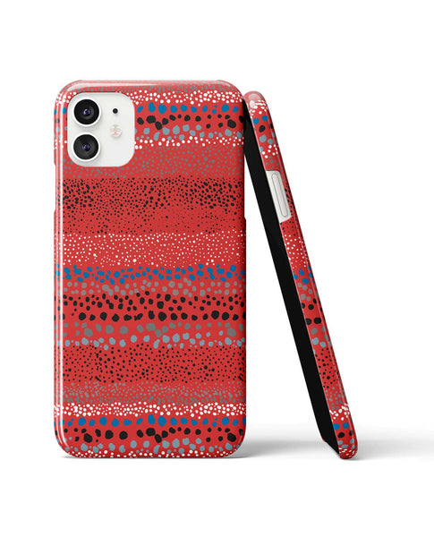Ninola Design Little Dots Textured Red Phone Case