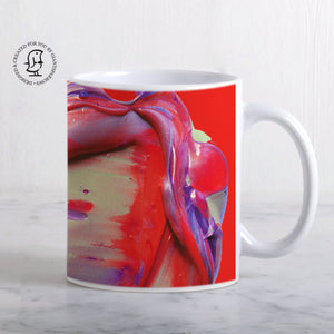 Lush and Rich Mix of Bright Red and Purple Paints Design Mug
