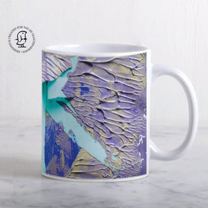 Blue and Purple Paints Design Mug