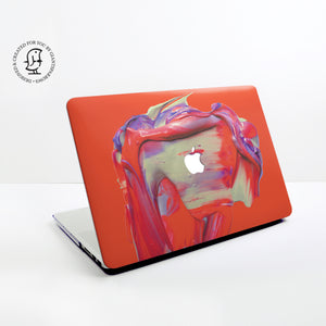 Red Paint Swirl Design Hard Protective Case for all MacBooks
