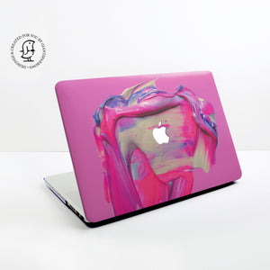 Pink and Purple Paint Swirl Design Hard Protective Case for all MacBooks