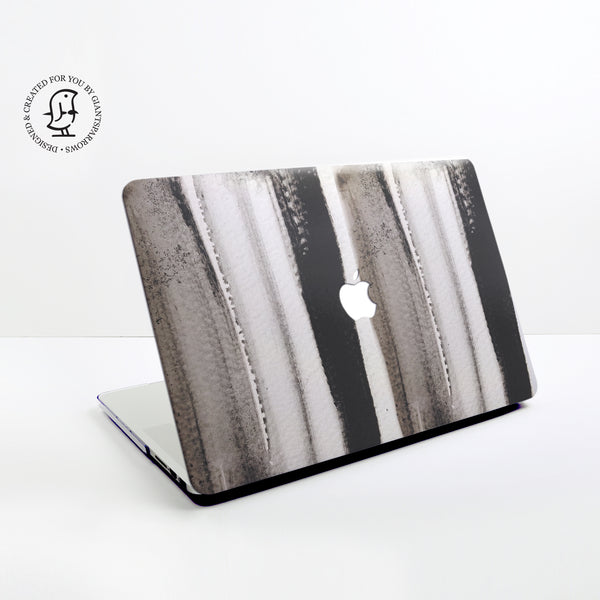 Black and White Watercolour Stripes Design Hard Protective Case for all MacBooks