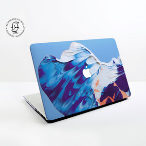 Blue, Pink, Orange Paints Design Hard Protective Case for all MacBooks