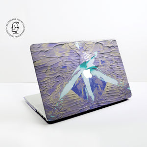 Lush Blue, Turquoise and Purple Paints Design Hard Protective Case for all MacBooks
