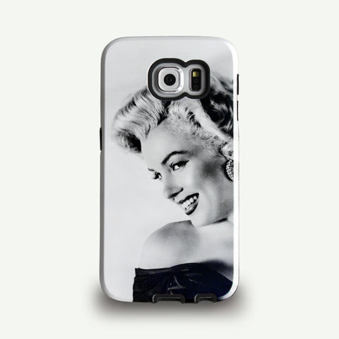 Marilyn Monroe in black and white Phone case