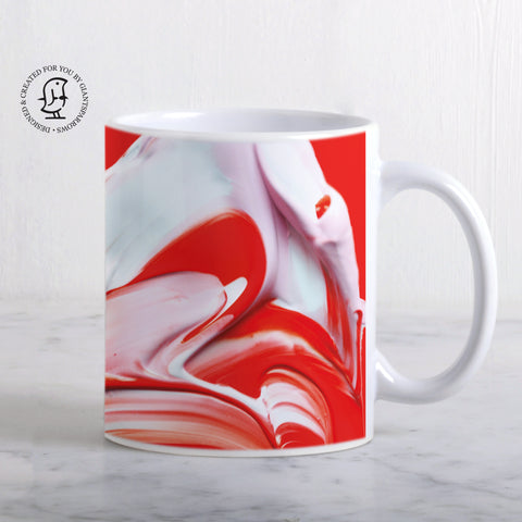 Lush and Rich Mix of Red and White Paints Mug