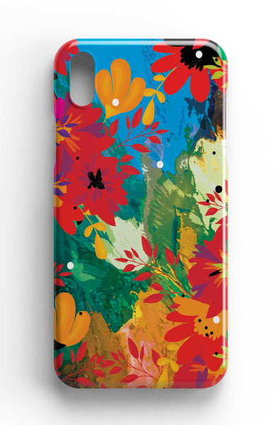 """Garden of Hope"" - Abstract Floral Art - Phone Case"