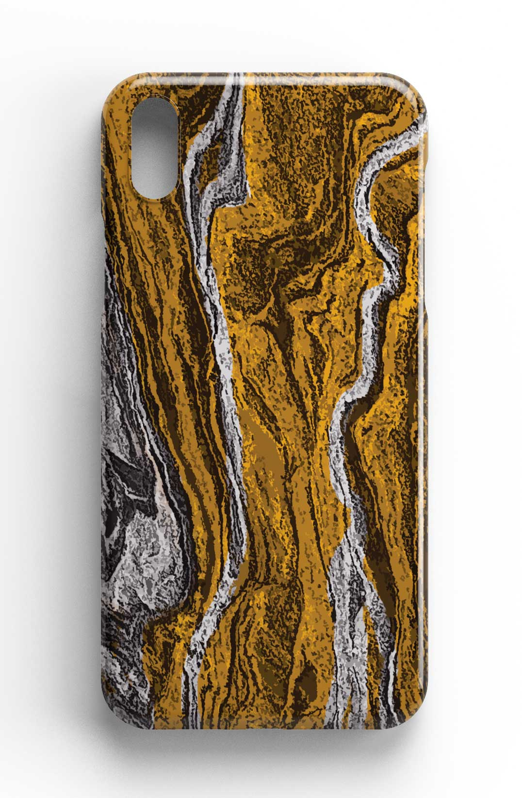 Marble Texture Gold and Grey - Stone Texture Phone Case