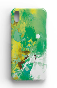 Green Waves - Abstract Digital Painting Phone Case