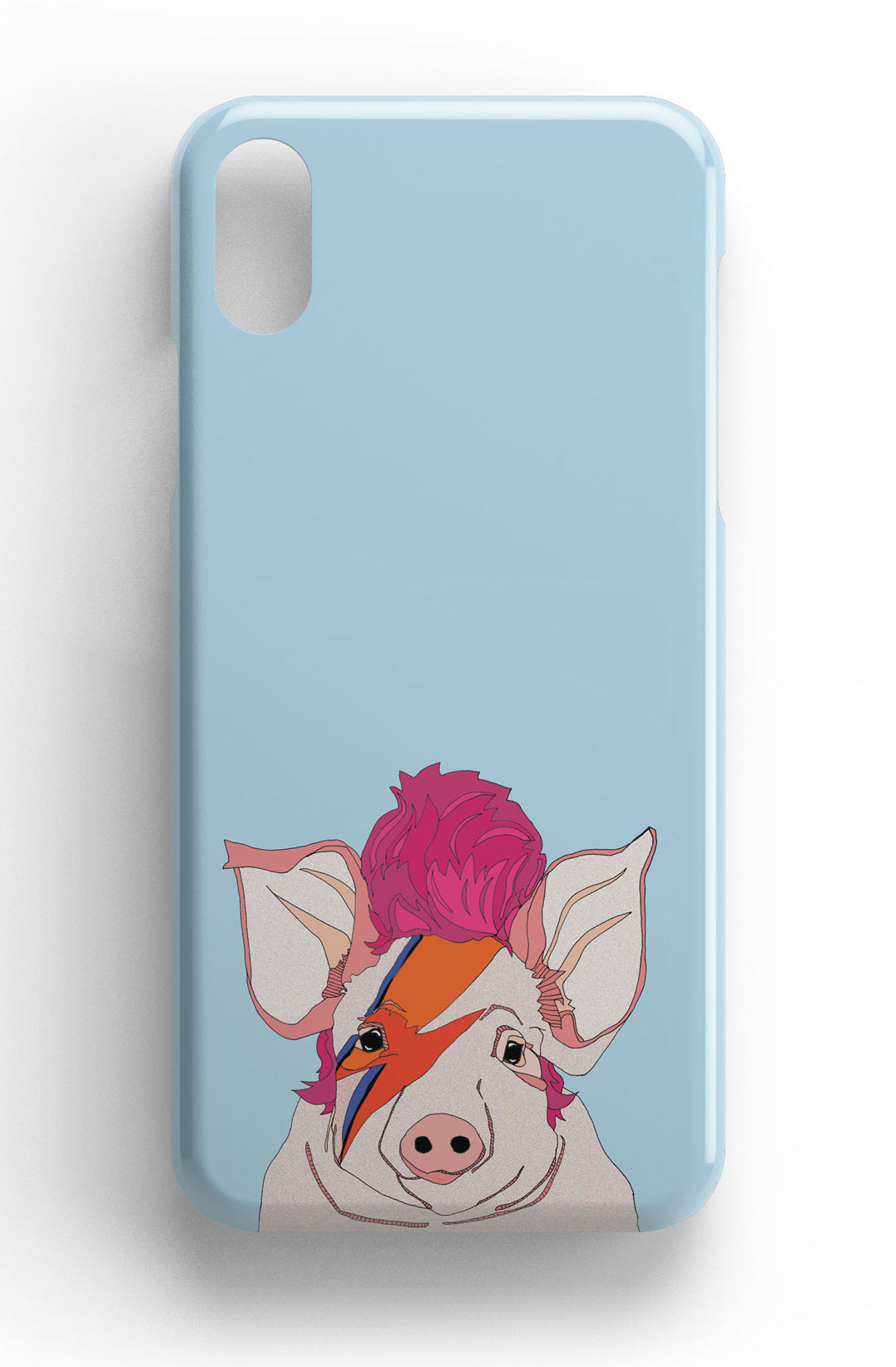 "Casey Rogers Illustrated Phone Case ""Piggy Stardust"""