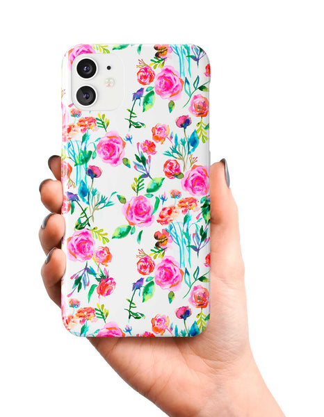 Ninola Design Pink Roses Bouquet Phone Case