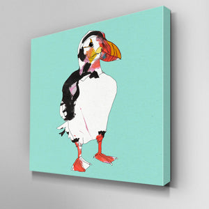 Puffin Canvas Picture