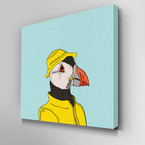 Puffin in a Mac Canvas Picture