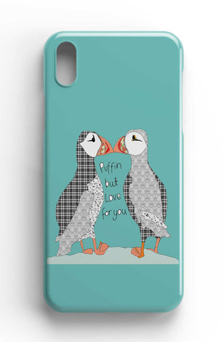 "Casey Rogers Illustrated Phone Case ""Puffin Love"""