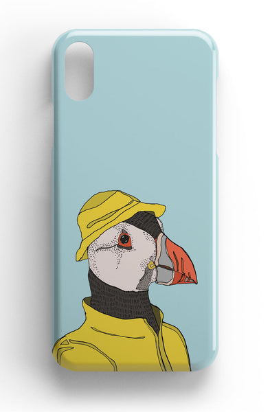 "Casey Rogers Illustrated Phone Case ""Puffin in a Mac"""