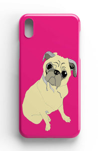 "Casey Rogers Illustrated Phone Case ""Pug"""