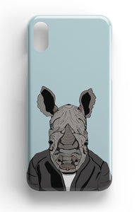 "Casey Rogers Illustrated Phone Case ""Rhino in Clothing"""