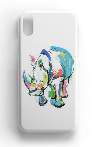 "Casey Rogers Illustrated Phone Case ""Rhino"""