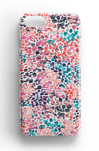 Ninola Design Pink Speckled Paint Phone Case